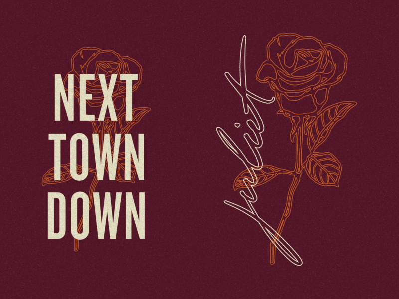Next Town Down illustration band apparel merch vector next town down