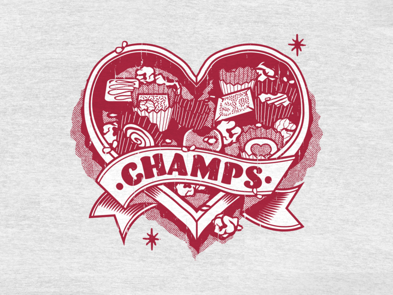 State Champs - Valentine's Day apparel vector illustration valentines day pop punk merch state champs