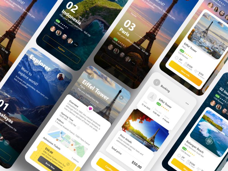 Explorer App uxui uitrends userinterface ux uxui user experience uiinspiration ui design dailyui