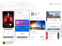 Design an Event ticket UI dashboard illustration user experience uxui uitrends userinterface uxui ux ui uiinspiration design dailyui