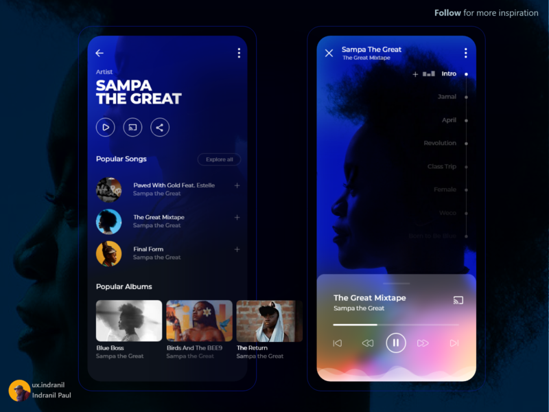 Music App uxui uitrends userinterface dailyui userinterface user experience uiinspiration ui design