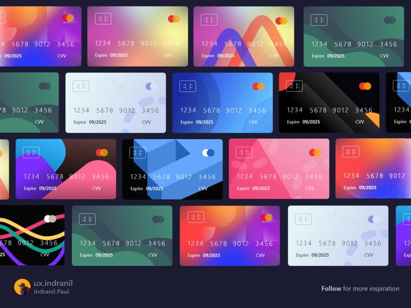 Virtual Credit Card UI KIT design ui ux uxui user experience uiinspiration dailyui