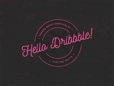 Hello Dribbble! thanks invite invitation shot first dribbble design