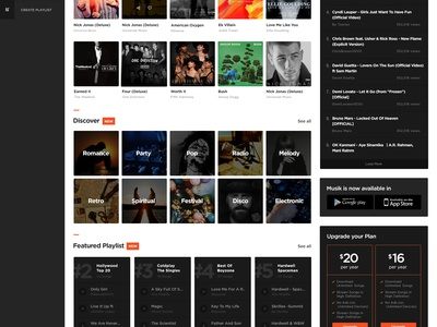 Beatz - Online Music Concept app design beats kit psd free ui ux player music concept online