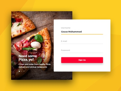 Daily UI :: 001 Day 001 Sign Up