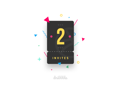 Dribbble Invites Give Away away give welcome play ticket invitation giveaway invite dribbble 2x
