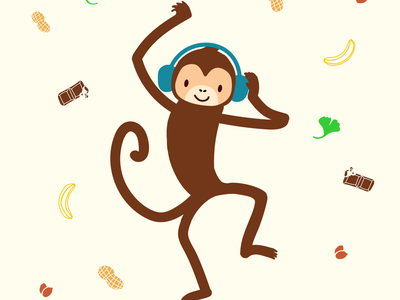 Funky Monkey design branding vector illustration character design graphic design brand identity