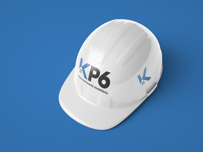 KP6 Logo on Construction Helmet realestate construction branding logo design graphic design brand identity