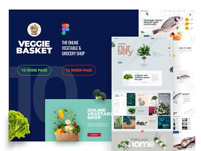 VeggiBasket-10 Exclusive Designs milkshop fishmarket veggetable ux illustration business theme website shopping