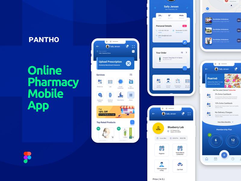 Online Medicine App template prototype creative branding ui business mobile shopping app online medicines