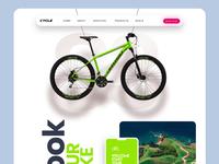 Book A Bike-Landing Page book bike ride template website prototype protopie uiux landing page design