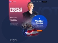Electioneer-Political Campaign Figma Template figmadesign theme ui mobile election day political campaign illustration template website design