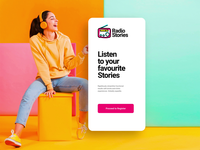 Sign Up | RadioStories #CreateWithAdobeXD creative design template website business uiux mobile app stories podcast radio xddailychallenge