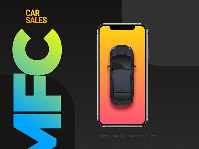 MFC-Car Sale and Buy Mobile App business theme illustration prototype buy sales car mobile ui design