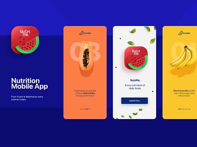 NutriMe-Nutrition Mobile App figmadesign diet healthcare mobile app prototype website mobile ui