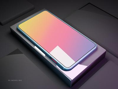 Inspiration-3D Phone Modeling illustration 3d animation mobile uiuxdesign mobile design blender3d 3d modeling