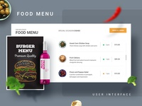Food Menu UI