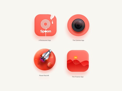 App Icon-Colour of the year   Living Coral branding mobile app design creative icon logo vector ui website living coral livingcoral