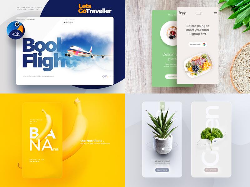 Best Of 2018 app branding prototype template creative illustration animation theme mobile website ui design