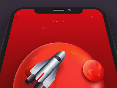 Mission Red Planet-UI and Interaction Cencept app website logo travel science fiction mobile prototype animation template business creative design