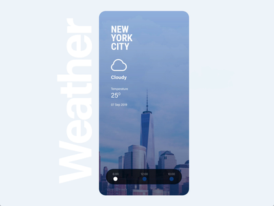 Weather Mobile App Concept prototype animation mobile creative ux ui autoanimate adobexd animaton weather app