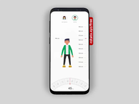 Fitness App-Check Your BMI illustration bmi ux prototype animation business ui mobile design