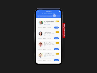 Doctor Appointment App adobexd animation doctor app appointments app prototype ux website ui mobile
