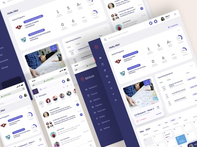 Responsive Student Dashboard mobile ui product design figma social network accessibility responsive responsive design web ux ui dashboard ui