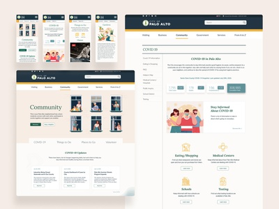 Municipal Responsive Website web design responsive design responsive accessibility figma ui product design