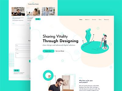 Agency Landing Page website typography web vector ux ui branding logo illustration design