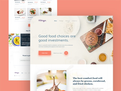 Food Landing page design graphicdesign ui web icon illustrator website vector logo illustration design branding