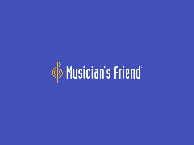 Musician's Friend Logo logotype logomark music music retailer identitydesign identity logodesign logo retail graphic design ecommerce digital design design branding