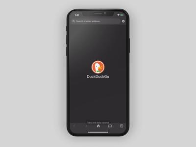 DuckDuckGo Privacy Essentials mobile design ios mobile app privacy