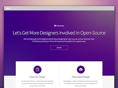 Introducing OpenDesign open-source open source open ux ui linux responsive