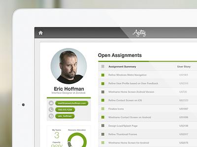 Meet Agility ios ipad ui interface design mobile