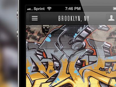 [Redacted]: An iPhone App iphone ios ui ux app graffiti street art
