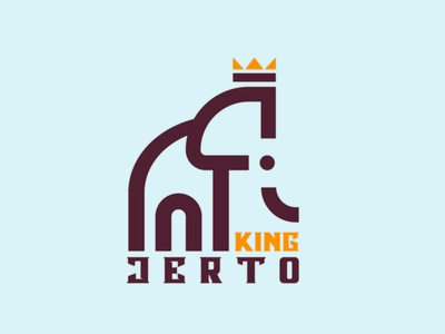 King Jerto Logo Design natural forest vector brand minimalistic creative product abstract goldenratio geometric modern clean logo design royal elephant animal branding design logo