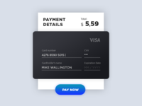 Daily UI: Day 002. Credit Card Checkout