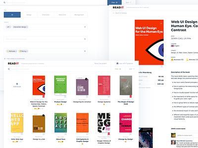 Read IT read it library book interface design ux ui web