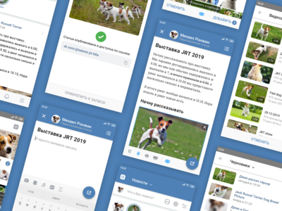 Article Editor Concept for VK Android App