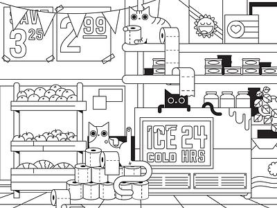 Bodega cats nyc bodega cat quarantine toiletpaper coloring cats
