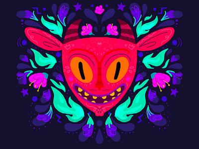 El diablito devil mexican evil floral patter