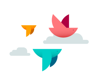Air birds air fly flight ave icon branding birds