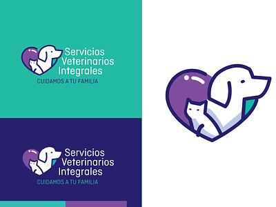 Branding Development for Veterinary Hospital logo love veterinary dog