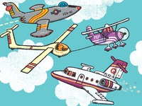 Everything Goes: some airplanes