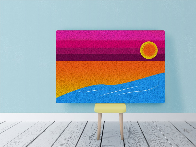 gradation paint chilln surfers surfing drawing illustrator chiller illustration beach design