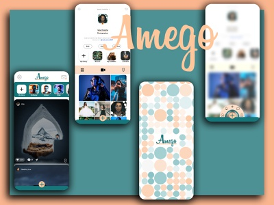 Amego Lets connect with friends friends ui adobe photoeditor illustration app mobile xd ux adobexd design