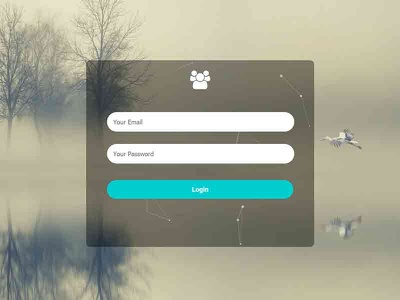 Transparent Login Form with Particles Effect form design login form webdesign frontend html css html5 html css3 css