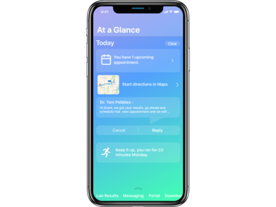 At a Glance Health and Wellness iOS App