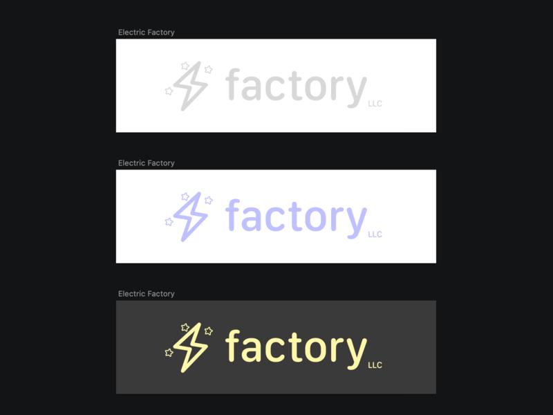 Electric Factory Logo logo design ios logo